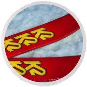 K2 Skis Round Beach Towel