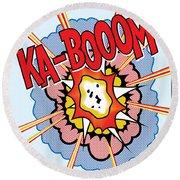 Ka-booom Round Beach Towel by Gary Grayson
