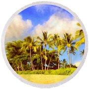 Kaanapali Beach Maui Round Beach Towel