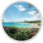 Kaanapali Maui Hawaii Round Beach Towel