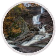 Kaaterskill Falls Autumn Square Round Beach Towel