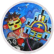 Kachina Knights Round Beach Towel