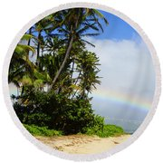 Blessed Land Round Beach Towel