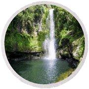 Kaiate Falls Round Beach Towel