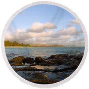 Kailua Bay Sunrise Round Beach Towel