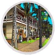 Kailua Village - Kona Hawaii Round Beach Towel