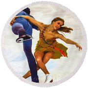 Kaitlyn Weaver And Andrew Poje Round Beach Towel