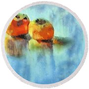 Kaki Couple Round Beach Towel