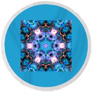 Kaleidoscope 1 Round Beach Towel