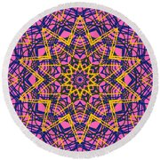 Kaleidoscope 1004 Round Beach Towel