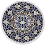 Kaleidoscope 104 Round Beach Towel