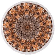 Kaleidoscope 121 Round Beach Towel