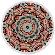 Kaleidoscope 127 Round Beach Towel