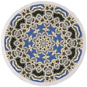 Kaleidoscope 77 Round Beach Towel