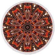 Kaleidoscope 85 Round Beach Towel