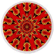 Kaleidoscope 89 Round Beach Towel