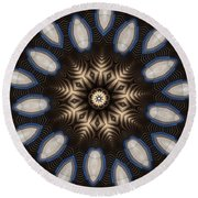 Kaleidoscope 91 Round Beach Towel