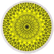 Kaleidoscope 957 Round Beach Towel