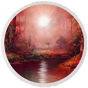 Kaleidoscope Forest Round Beach Towel