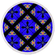 Kaleidoscopes-02 Round Beach Towel