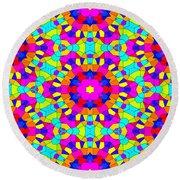 Kaleidoscopic Mosaic Round Beach Towel