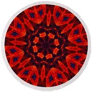 Kalidescope Abstract 031211 Round Beach Towel