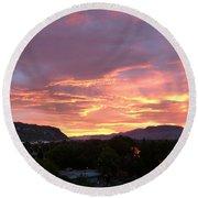 Kamloops Sunset 2 Round Beach Towel