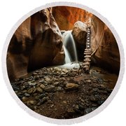 Kanarra Creek Falls  Round Beach Towel