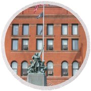 Kane County Courthouse Round Beach Towel