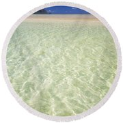 Kaneohe Sandbar Round Beach Towel