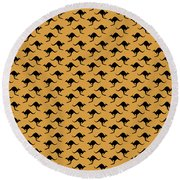 Kangaroo Pattern Round Beach Towel