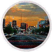 Kansas City Evening Round Beach Towel