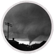 Kansas: Tornado, C1902 Round Beach Towel