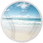 Kapalua Blue Round Beach Towel