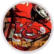 Kareem Hunt, Kansas City Chiefs Round Beach Towel