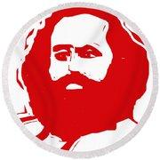 Karl Marx Round Beach Towel