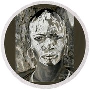 Karo Man Round Beach Towel