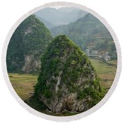 Karst Landscape, Guangxi China Round Beach Towel