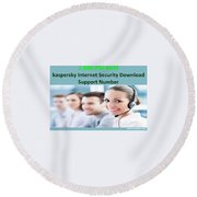 Kaspersky Internet Security Download Support Number Round Beach Towel