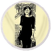 Kassidy Round Beach Towel