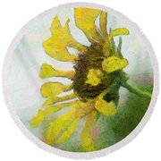 Kate's Sunflower Round Beach Towel