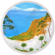 Kauai Hawaii Round Beach Towel