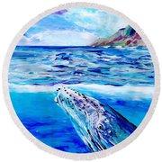 Kauai Humpback Whale Round Beach Towel