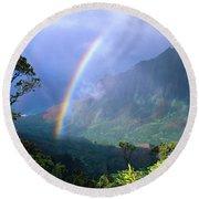 Kauai Rainbow Round Beach Towel