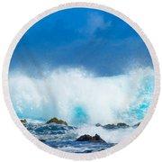 Kauai Waves Round Beach Towel