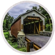 Kaufman Covered Bridge - Pa Round Beach Towel