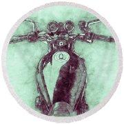 Kawasaki Z1 - Kawasaki Motorcycles 3 - 1972 - Motorcycle Poster - Automotive Art Round Beach Towel