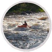 Kayak 1 Round Beach Towel