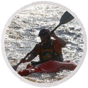 Kayak 2 Round Beach Towel
