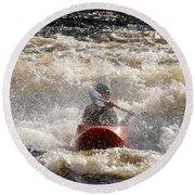 Kayak 5 Round Beach Towel